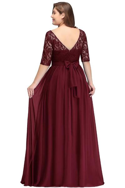 2019 Long Cheap Bridesmaid Dresses Under 50$ Floor Length Lace Plus Size  Bridesmaid Dress Vestido De Madrinha De Casamento Formal Dresses Party ...