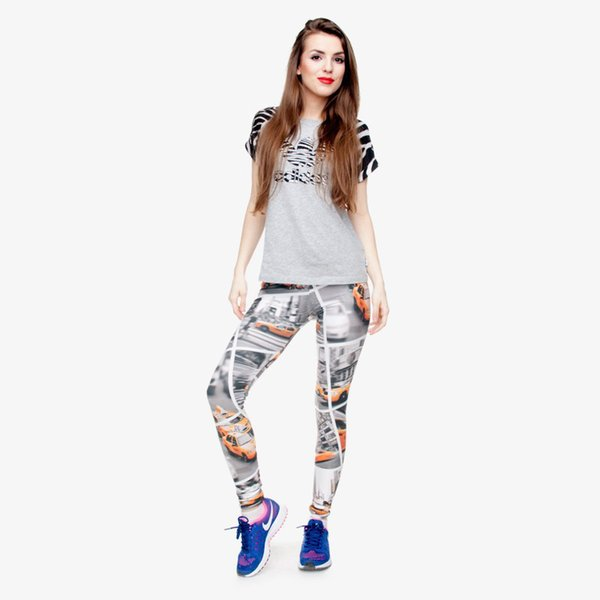Lady Leggings Taxi 3D Digital Full Print Runner Sport Yoga Wear Pants Girls Comfortable Pencil Fit Woman Stretchy Workout Trousers (Y30547)