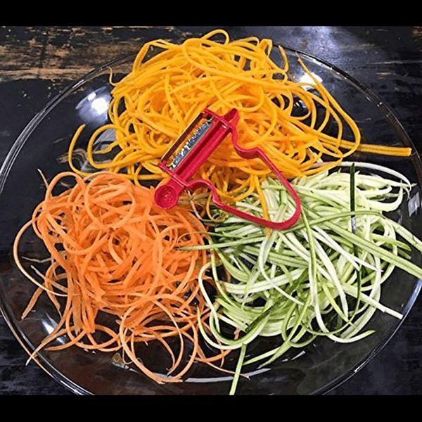 Pack 3 eplucheur magique econome legume multifonction Julienne /& Tagliatelle