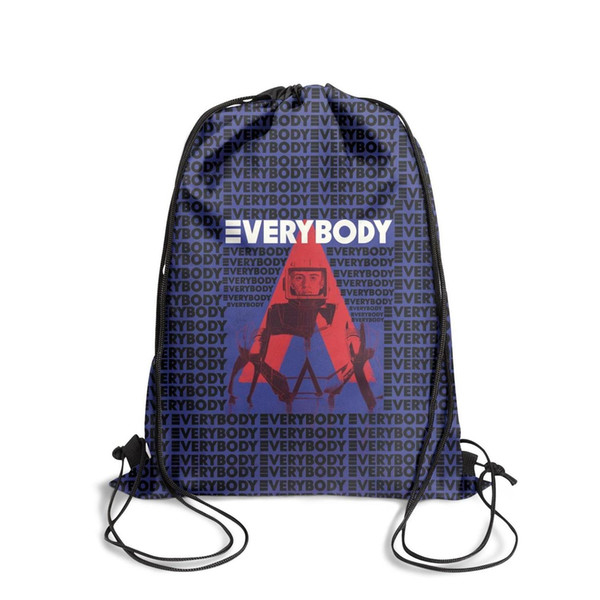 Drawstring Sports Backpack logic everybody red and blue cute adjustable sinch sack Travel Fabric Backpack