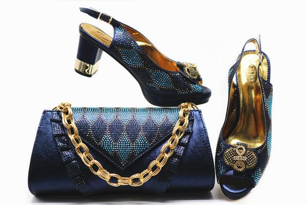 2019 Nigerianische Schuhe und Taschen Set für Party Matching Italienische Schuhe und Taschen Set Heißer Verkauf für Frauen
