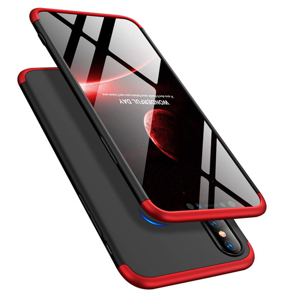 Mytoto 360 Degree Protection 3 in 1 Slim PC Cover Shockproof for iphone XR XS XSMAX 7 7plus 8 8plus ultra thin all inclusive phone case