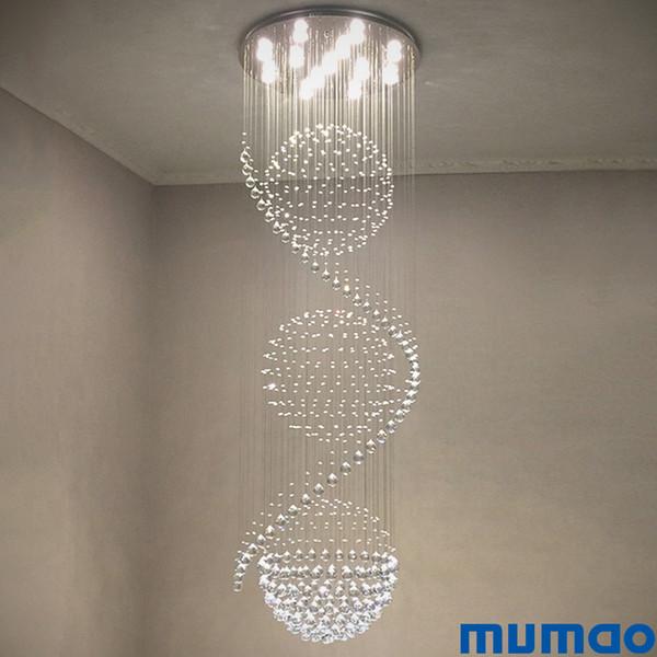 Modern Led Lustre Crystal Chandelier Lighting For Dining Living Room Candle Chrome Ceiling Chandeliers Lamp Indoor Pendant Light Fixture