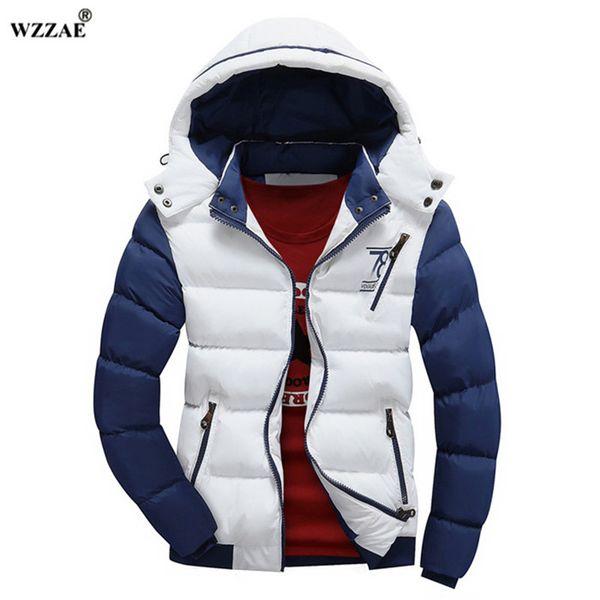 WZZAE 2018 Новый зимняя куртка мужчины теплый пуховик повседневная куртка мужчины мягкий зимняя куртка повседневная красивый зимнее пальто мужчины