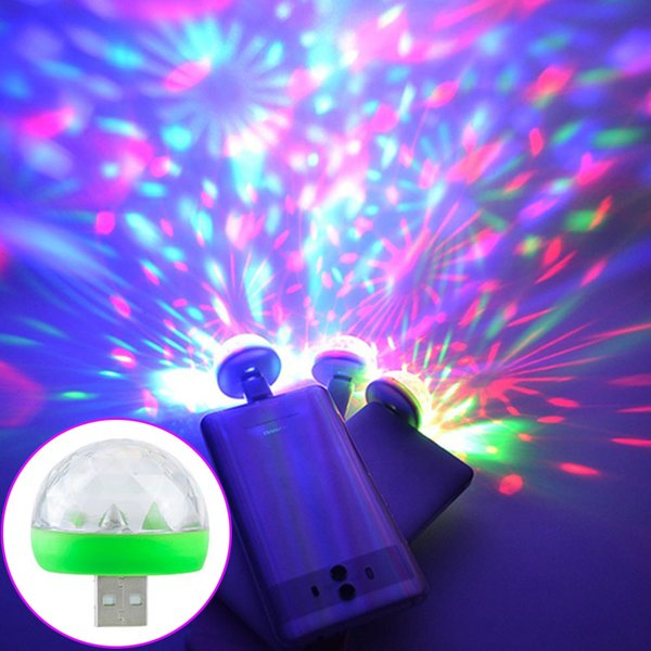 Micro USB Stage Light 4W Magic Ball RGB Lamp Disco Magic Club Wedding Party Home Decoration Lighting Effect for Mobile Phone Power bank