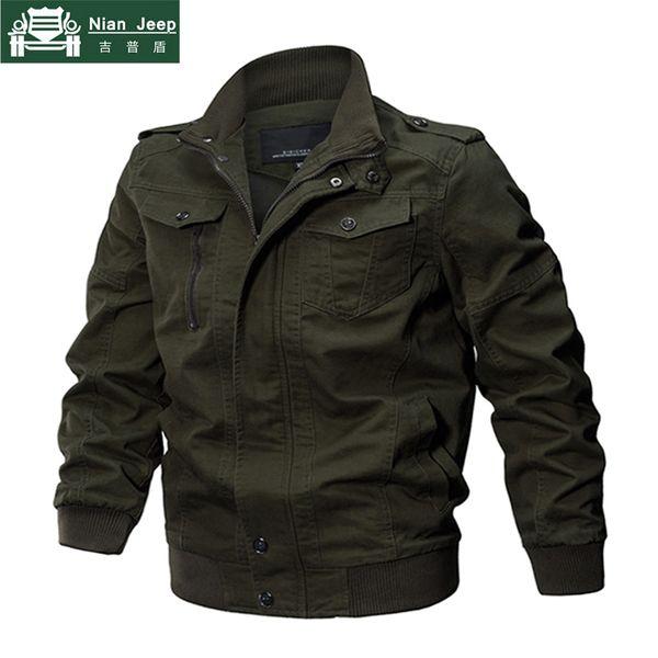 Military Style Jacket Men 2018 Cotton mens jackets & coats Army Men's slim Jackets Air Force Spring Cargo Jaqueta szie M-6XL 701MX190828