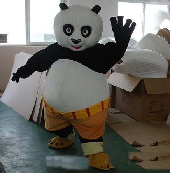 2019 Factory hot new Mascot Costume clothingactory Mascot Costume Kung Fu Panda Cartoon Character Costume Adult Size