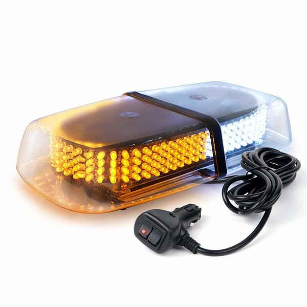 Dual color Amber / White Warning Emergency Truck Car 240-LED Snow Plow Safety Strobe Light With Magnetic Base