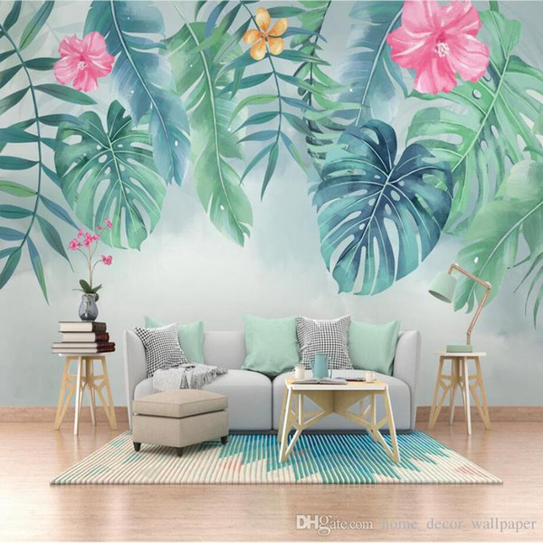 Custom Any Size Mural Wallpaper 3D Stereo Green Leaves Forests Fresco Living Room Study Restaurant Backdrop Wall Painting Decor