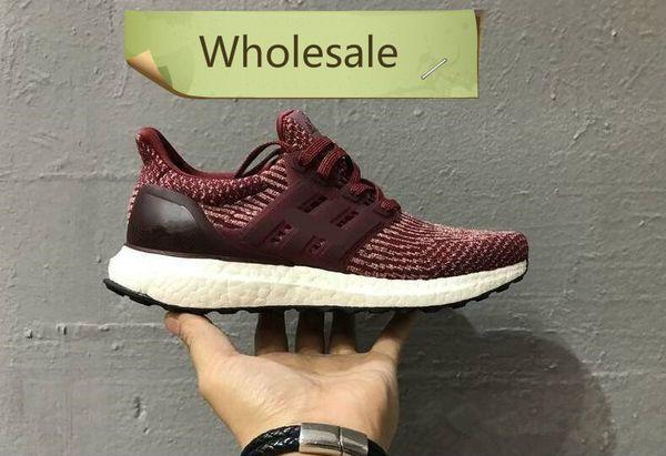 2019 heiß 3.0 4.0 Mens Womens Causal Schuhe Primeknit Triple Black und White Oreo grau blau Turnschuhe Größe Großhandel .006