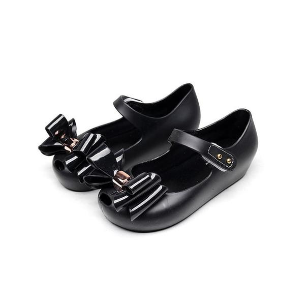 2-6 Anos Crianças Jelly Pé Dentro Comprimento verão moda borboleta bow-tie meninas sandálias cabeça de peixe estudante macio pvc crianças sapatos