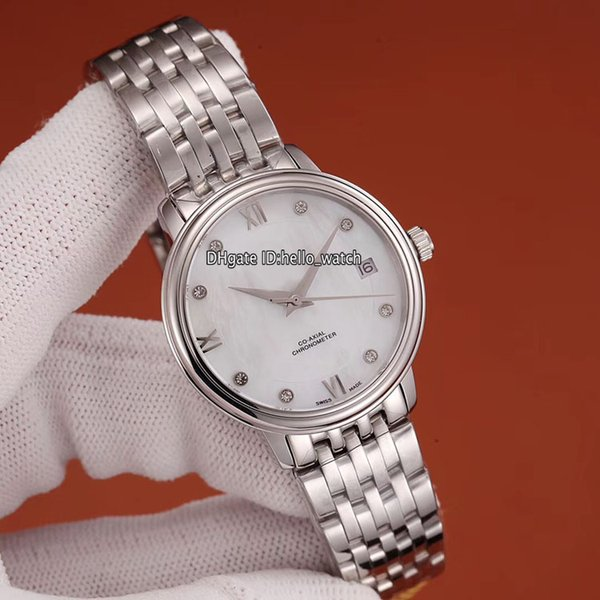 6 Color 32.7mm Fashion Lady Elegant Watch 424.10.33.20.05.001 White Conch Dial Miyota 8215 Relojes automáticos para mujer Pulsera de acero inoxidable
