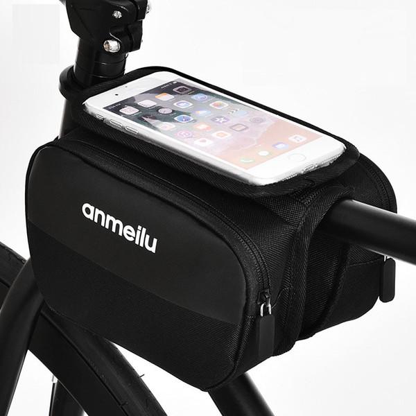 4-6 İnç Cep Telefonu için Su Geçirmez Bisiklet Çanta Naylon Bisiklet Bisiklet Çanta Case Bisiklet panniers Çerçeve Çanta