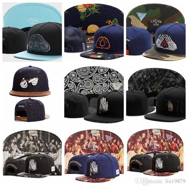 berretti da baseball Cayler Sons BKNY DINASTIA maglia camo #rollin fumo pregare per Compton SALVATORE spezzare il pane dio snapback Gorras cappelli uomini donne ossee