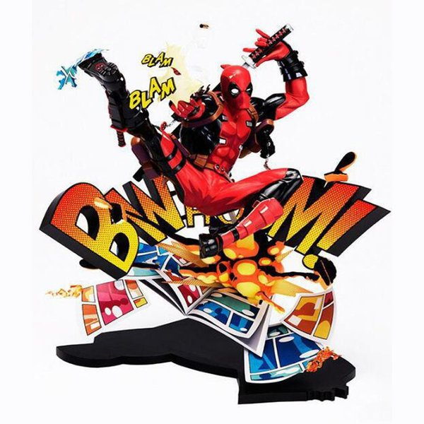 Deadpool action model figure 24cm Super hero collection comics kids toy Christmas gift with box decoration PVC
