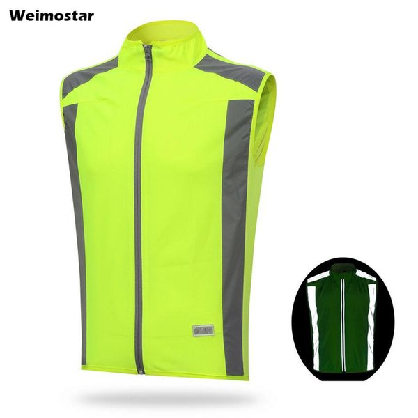 top popular WEIMOSTAR Cycling Vest Ciclismo Reflective Mens Womens Windvest Sleeveless Bicycle Bike Clothes Outdoor Sports Top Shirts S-XXXL 2020