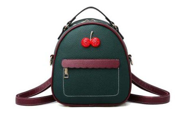 New Korean version cherry small bag retro litchi grain single shoulder diagonal cross female bag hot style tide