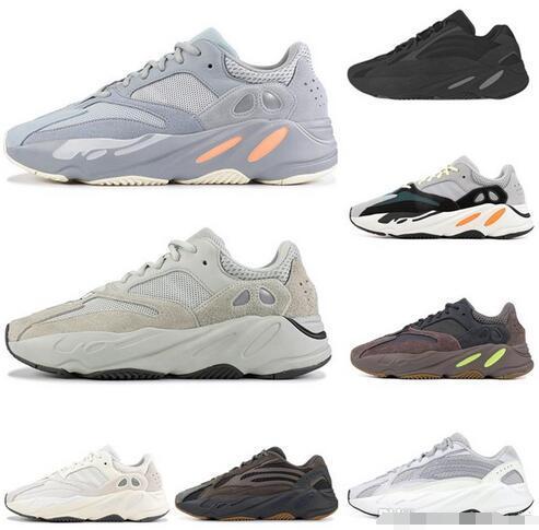 2019 Con la caja de zapatos calientes 700 funcionamiento de las mujeres de los hombres Utilidad Negro Vanta Tefra corredor de la onda analógica zapatillas de deporte para hombre de la moda entrenadores deportivos