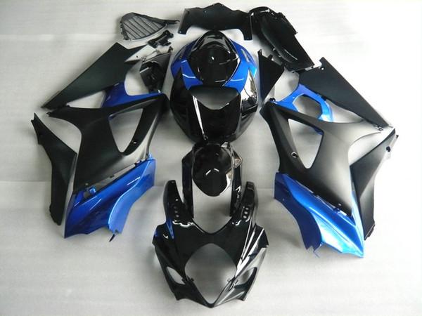 Kit de cuerpo de carenado azul negro para SUZUKI GSXR1000 07 08 GSX-R1000 Carrocería GSX R1000 K7 2007 2008 Juego de carenados + regalos