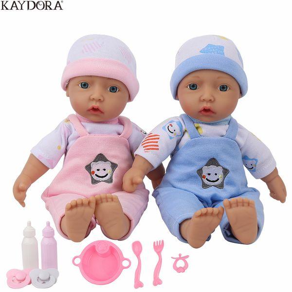 Commercio all'ingrosso 10 pollici 25 cm Silicone Pieno Reborn Baby Doll Alive Bebe Reborn Bambini Playmate Ragazze Mini Piccolo Carino Giocattoli Regalo Di Compleanno