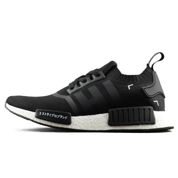 2019 NMD R1 Cheap atmos Bred Running Shoes Tri-Color OG Classic Men Women Japan Triple Black52 Red Marble Sports Trainer Sneakers 36-45