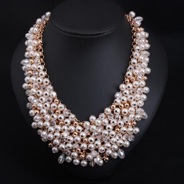 Perlenkette übertrieben mehrschichtigen Mode Pullover Kette Hersteller Großhandel 0720