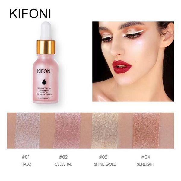 KIFONI Marca Liquid Highlighter MakeUp Highlighter Cream Concealer Shimmer Face Glow Illuminante ultra-concentrato Illuminare Brillante brillante