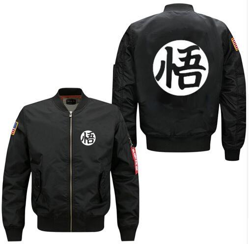 Xijun Anime Dragon Ball Son Goku Bomber Jackets For Men Thick Cotton Liner Streetwear Jacket Men Clothes Ma1 Plus Size T2190615