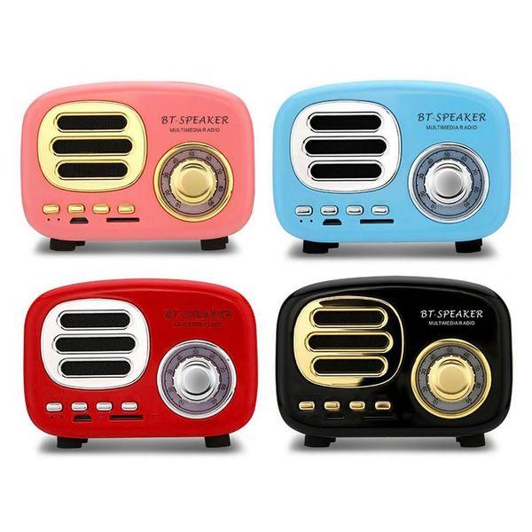 HiFi Retro Altavoces Bluetooth Inalámbricos BT02 Lindo mini portátil 3W altavoz mp3 compatible con lector de tarjetas TF para la tableta del teléfono móvil