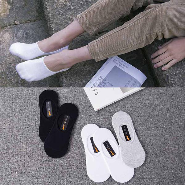 Mens Summer Socks Solid Color White Black Grey Ankle Sports Athletic Socks