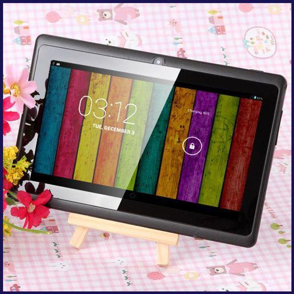 top popular 7 inch A33 Quad Core Tablet PC Q8 Allwinner Android 4.4 KitKat Capacitive 1.5GHz 512MB RAM 8GB ROM WIFI Dual Camera Flashlight Q88 A23 MQ12 2021