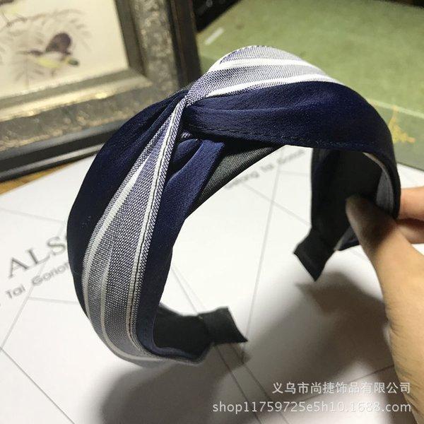 Banda Knot Stripes capelli + Solido Colore Dar