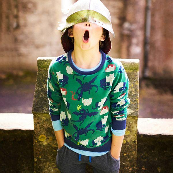 New Toddler Sweatshirt Cotton Fashion Spring winter Boys cartoon Tops Hoodies kids Childrens t-shirt tees