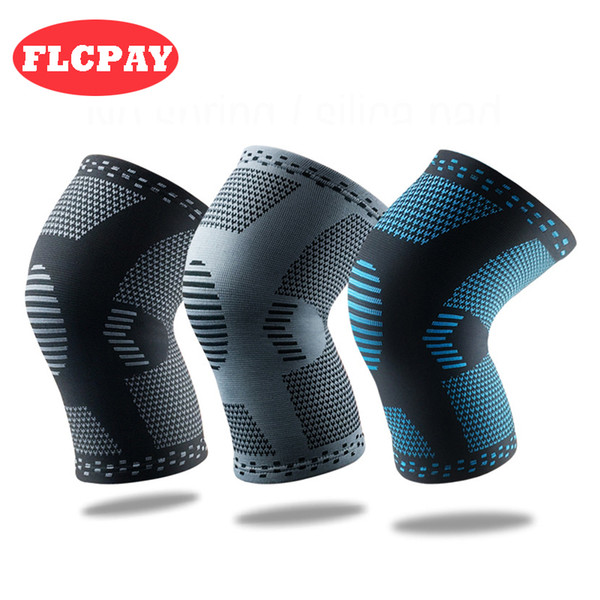 1 Pair New Nylon Weaving Elastic Sports Knee Pads Breathable Knee Support Brace Running Fitness Hiking Cycling Knee Protector