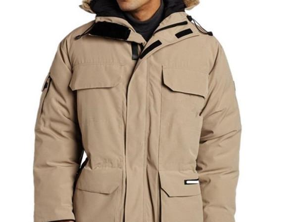 Free DHL Canada Winter Men PBI EXPEDITION PARKA FUSION FIT Outerwear Big Fur Hooded Fourrure Manteau Down Jacket Coat Hiver Doudoune