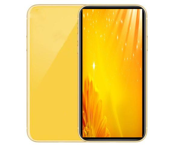 GooPhone 11 6.1inch Quad Core téléphones cellulaires 1 Go de RAM 4 Go ROM MTk6580 Face ID Smartphones Afficher 4 Go / 256 Go montre lte Téléphone débloqué 4 g