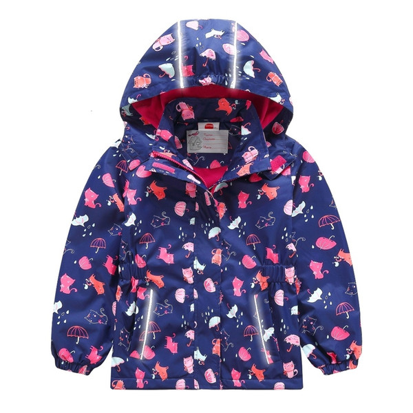 Capa Impermeable a prueba de viento de los bebés chaquetas para niños Los niños de vestir exteriores caliente polar Para 3-12 T primavera AutumnMX190916