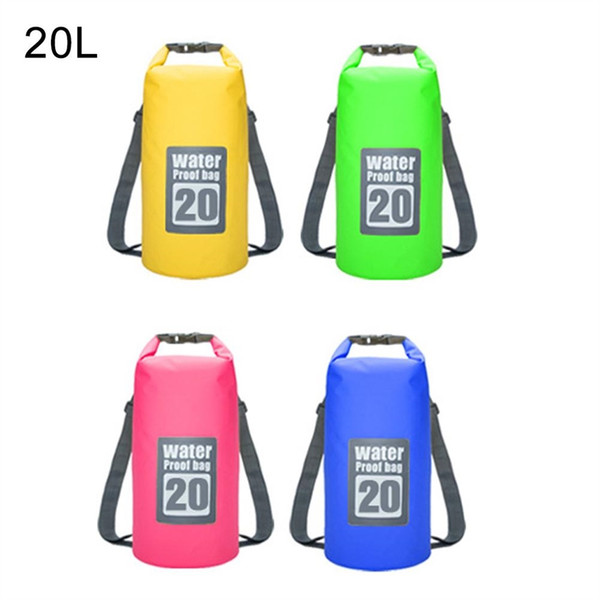 e4463cc42bb6 2019 PVC 5L 15L 20L Swimming Waterproof Bags Storage Dry Sack Bag For Canoe  Kayak Rafting Outdoor Sport Bags Travel Kit #42580 From Hot_jersey2018, ...