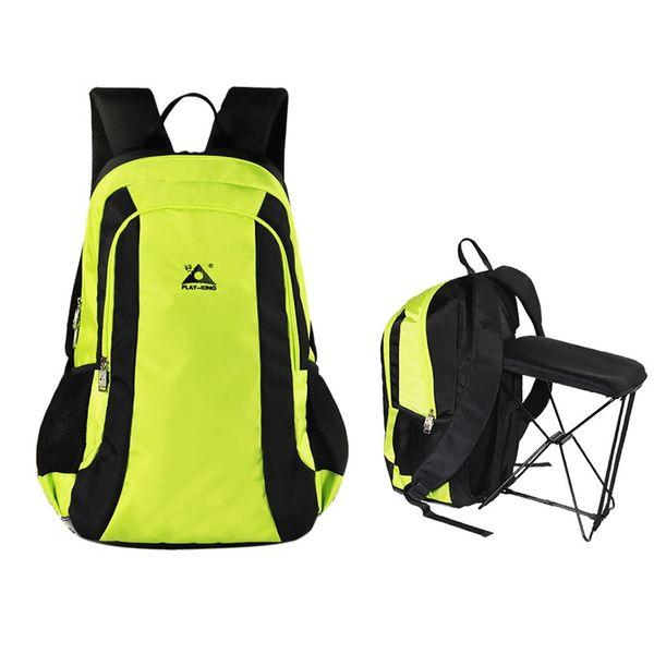 Outdoor Multi-function Fishing Steel Stool Chair Bag Camping Hiking Travel Backpack Waterproof Folding Shoulder Bag 4 Colors #221718