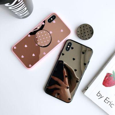 1 шт. Для iPhonexs max покрытием зеркало телефон чехол iphone 8 / 7plus зеркало телефон чехол анти-осень
