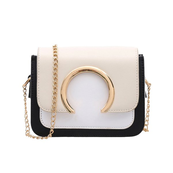 Hot Women's Fashion Ring Decoration Patchwork Crossbody Shoulder Bags New Design Ladies Women's Purses And Hand Bags