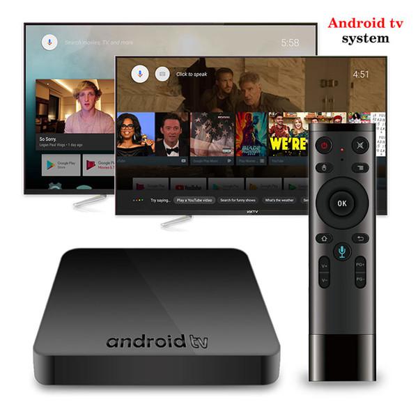 best selling 2019 Hottest AX7 Google Voice Control TV Box AndroidTV 7.1 System 2GB 16GB Amlogic S905W Smart Media Player P MXQ PRO X96 MINI
