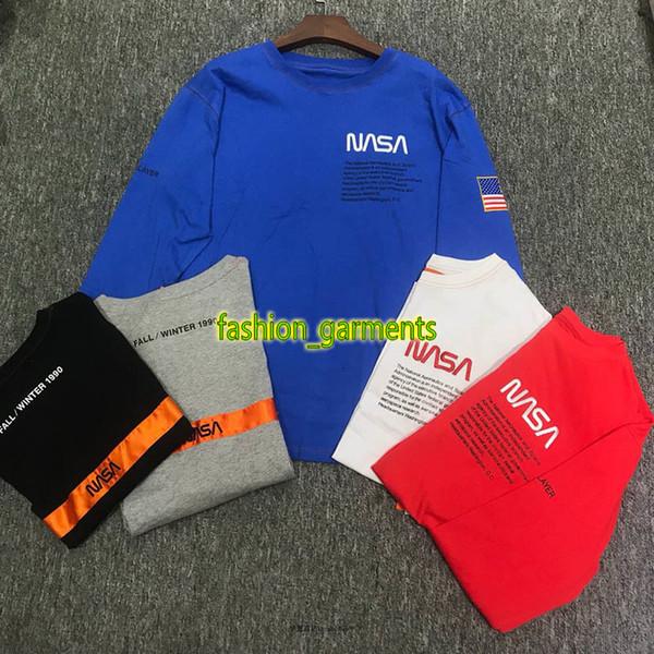 Brand New HERON PRESTON Nasa Heavy Jersey HP T-shirt Hip-Hop long sleeve round collar T-shirt long men women designer Long sleeve