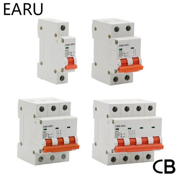 Wholesale ome Improvement 1 2 3P 4P DC 250V-1000V 10Solar Mini Circuit Breaker MCB Fuse PV System Solar Engery 3 6 10 16 20 25 32 40 50 63 80 100 1...