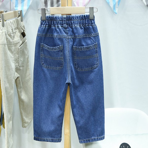 Fashion Spring Autumn Baby Girls Boys Children Infants Casual Pants Denim Jeans Full Length Pants Kids Trousers Pantalones