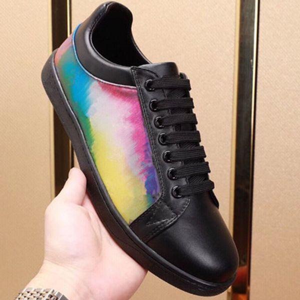 Kadınlar Gerçek Deri Pembe Kauçuk dış taban Çiçekler LÜKSEMBURG italya rahat paten ayakkabı spor ayakkabılar Yeni Toptan Ucuz Tasarımcı Ayakkabı
