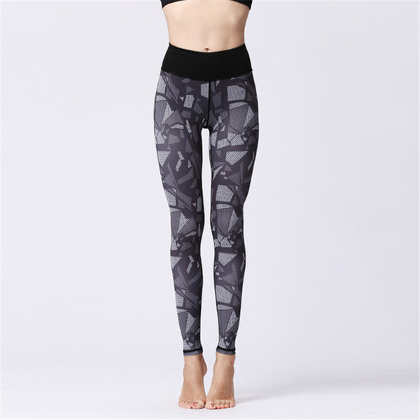 High Waisted Workout Leggings Womens Sports Yoga Cropped Pants Fitness Running Dance Cropped Trousers Print Elastic Tight Ankle Length Pants