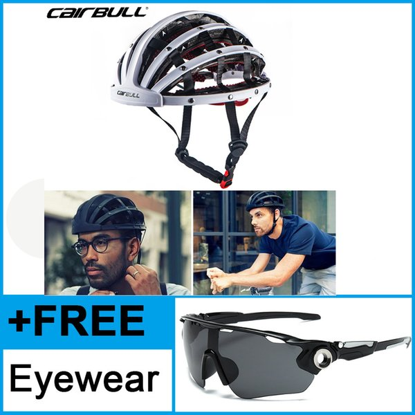 New Design Folding Bicycle Helmet Ultralight Bike Helmets Portable Road City Cycling Helmet Safety Hat e 56-62cm