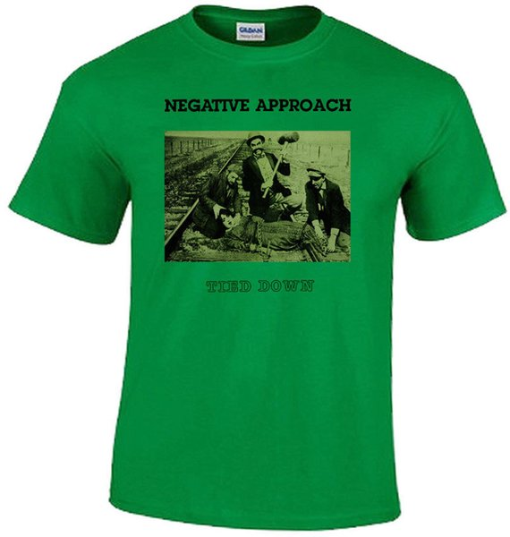 Negative Approach v8 Tied Down T-shirt green hardcore punk all sizes S-5XL Funny free shipping Unisex Casual Tshirt