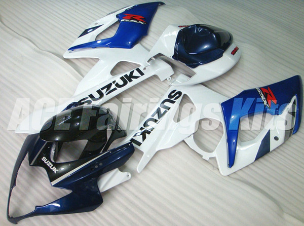 New ABS motorcycle Fairings Kits Fit For Suzuki GSXR1000 1000 K5 GSX-R1000 2005 2006 05 06 bodywork set custom Fairing white blue
